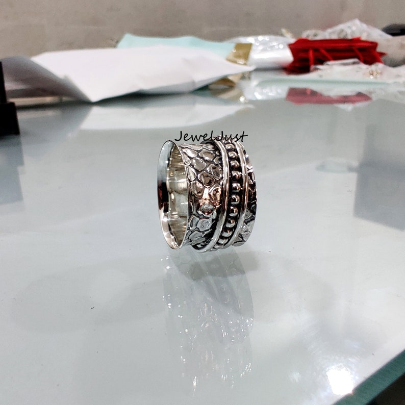 Spinner Ring Women Ring Promise Ring Gift For Her Boho Ring 925 Silver Ring Worry Ring Anxiety Ring Thumb Ring Meditation Ring