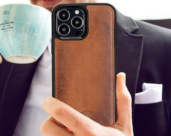 BESTSELLER iPhone 13 Pro MAX 6.7 inch Phone Case, Personalized Case, Leather Back Cover, NEW Apple Protective Case with Engraving, Screen Protector