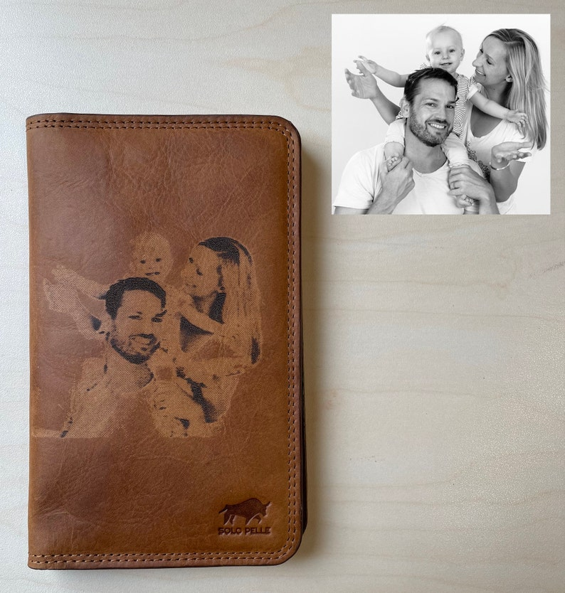 Men usually try to make their belongings neat and light, especially their important documents and stuff. So, his Leather Wallet will be a trustworthy traveling companion for him to keep everything he needs in a single place. You only need to choose a picture he loves the most, we will engrave it directly to the wallet. I'm sure he'll treasure it for a really long time.