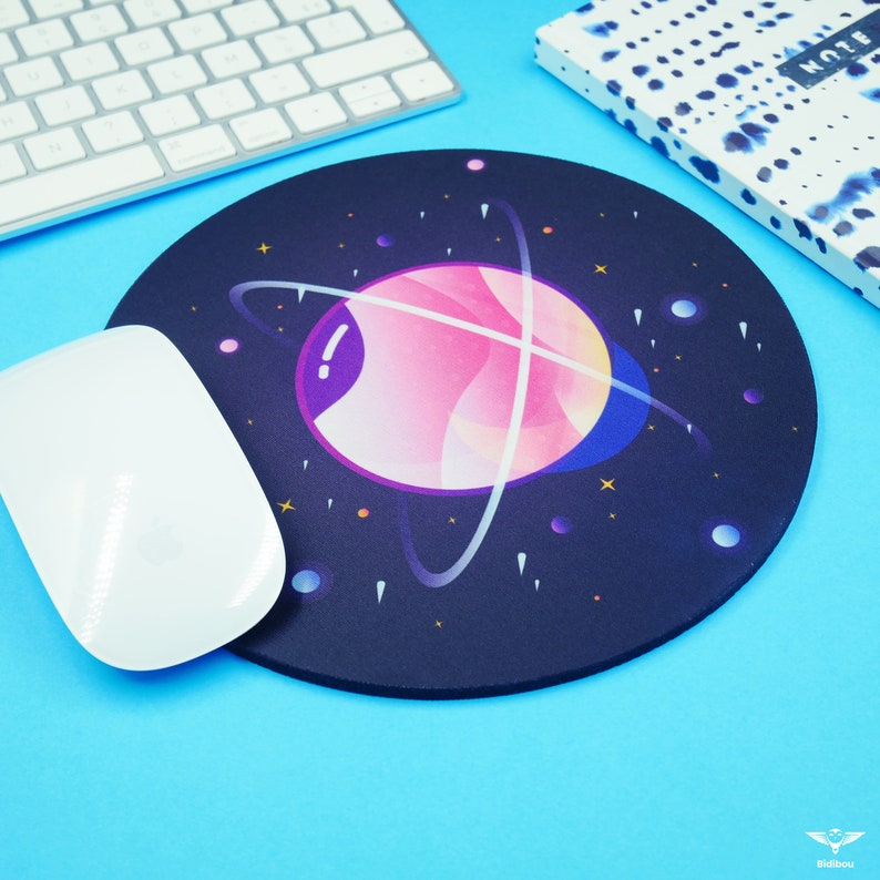 Colorful round galaxy mouse mat Galaxie 1