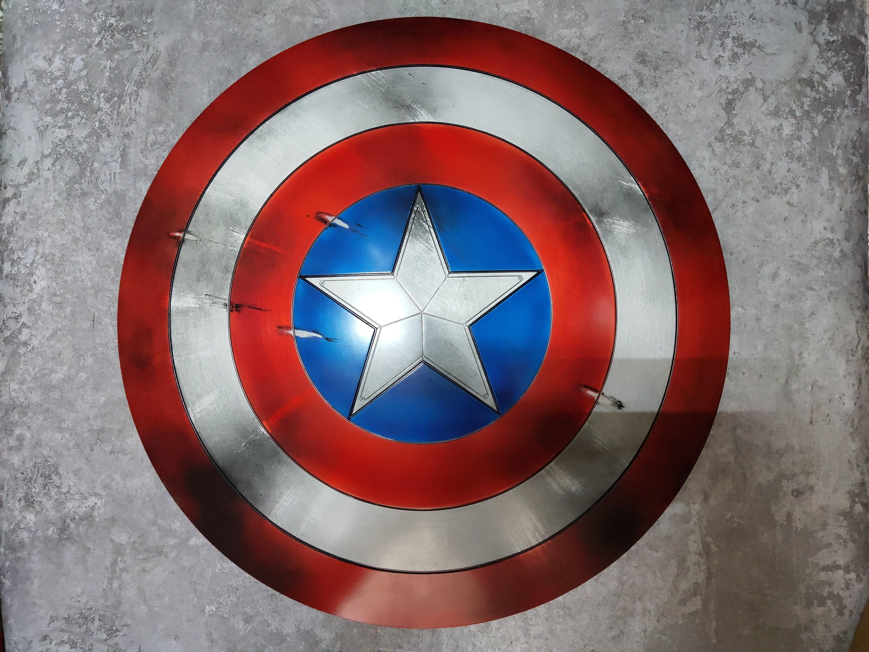 Captain America Shield Metal Captain America Cosplay Shield   Etsy