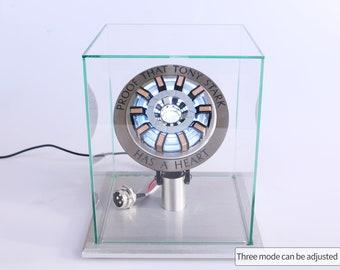 MK2 Arc Reactor Iron Man Heart Tony Stark Arc Reactor Lamp 1/1 Scale Movie Prop Replica with Remote Control