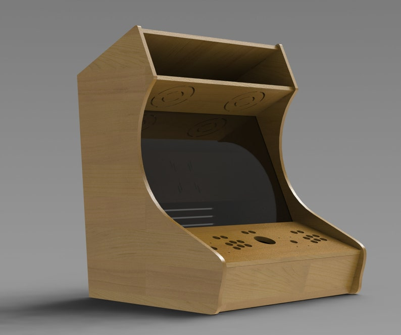 Bartop Arcade machine plans Two Player with trackball | Etsy