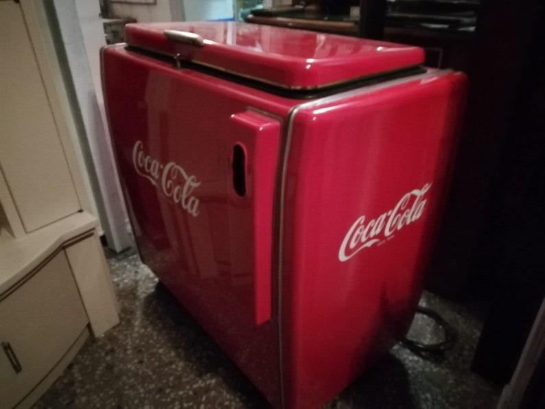 Retro Kühlschrank Cola : Coca cola vintage kühlschrank jahre etsy