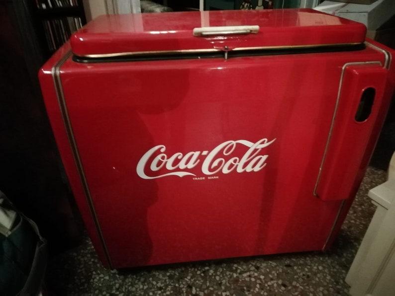 Retro Kühlschrank Coca Cola : Coca cola vintage kühlschrank jahre etsy