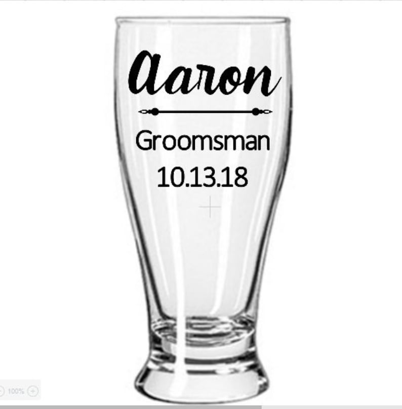 Personalized Pilsner Glass Personalized Beer Glass Groomsmen Etsy
