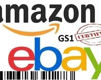 83713bffdab 100 UPC EAN Codes Certified Numbers Barcodes Amazon Ebay Lifetime Guarantee