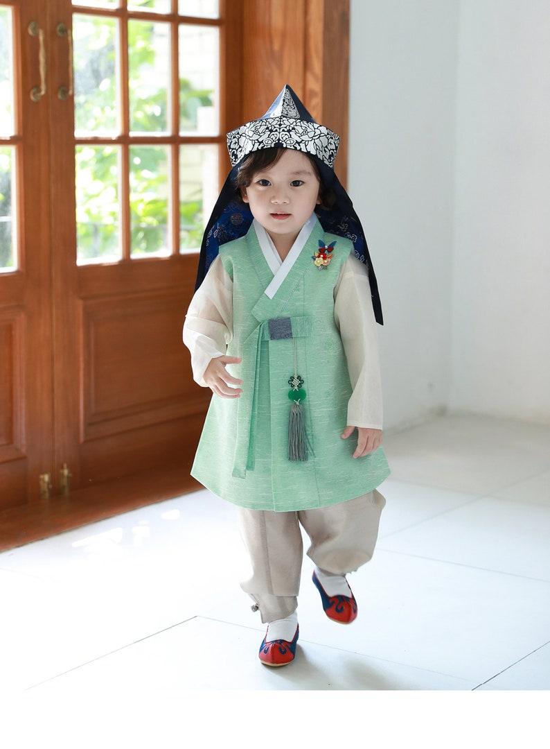 Korean Hanbok Traditional Costume Boys Age1~3 Korean Hanbok dolbok wt hat J615 World & Traditional Clothing