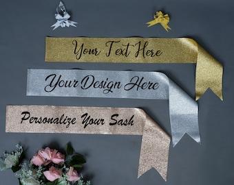 afca5c895c Custom glitter sash | Etsy