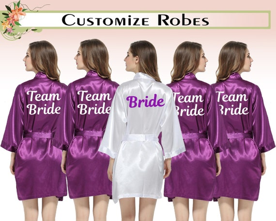 new items high quality guarantee united states Satin Robes Personalised Satin Robes Custom Satin Robes Wedding Robes Team  Bride Robes Bridesmaid Robes Satin Robe Gift For Bridesmaid