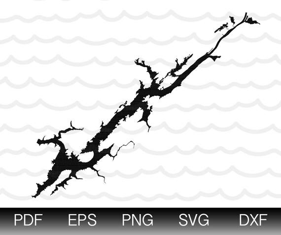 Magnificent Guntersville Lake Map Shape Instant Download Eps Svg Dxf Lake Guntersville Digital Vector Shape Pdpeps Interior Chair Design Pdpepsorg