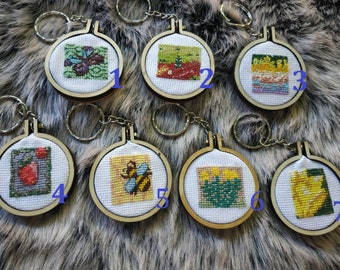 Key-stick in cross-stitch