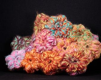 Crocheted flower bag/small flower bag