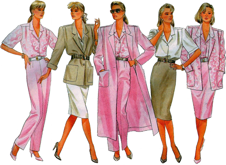4724 UNCUT Butterick Pattern Misses Loose Jacket Pants SEWING Vintage OOP FF