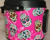 16 Colors - Small Sugar Skulls - Colored Background - Instant Pot wrap. InstaPot, Premium non-adhesive waterproof, magnetic wrap by Instant