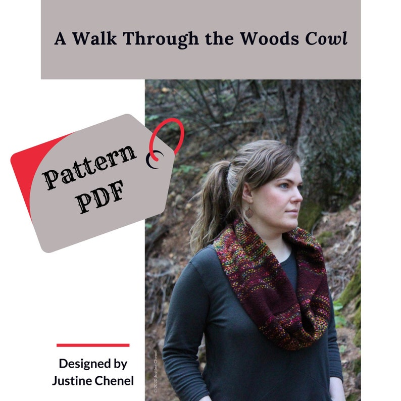 instant download: A Walk Through the Woods Cowl knitting image 0