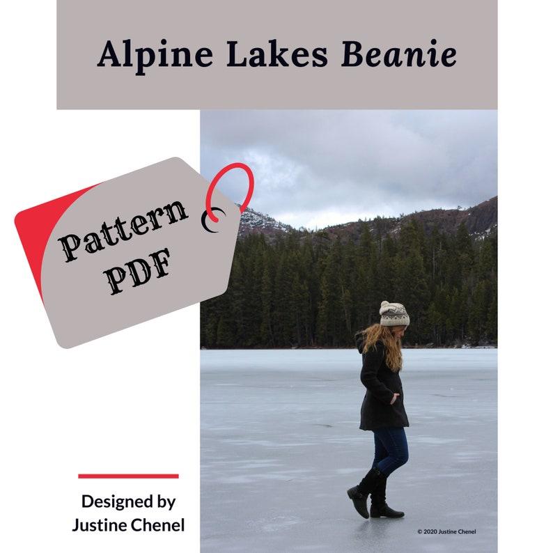 instant download: Alpine Lakes Beanie knitting pattern PDF image 0
