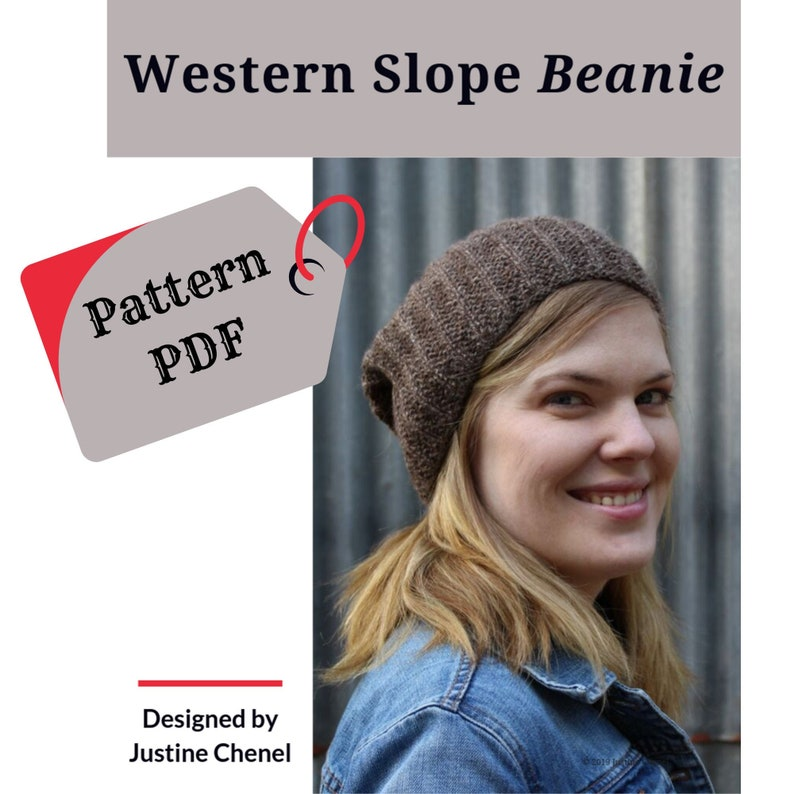 instant download: Western Slope Beanie knitting pattern PDF image 0