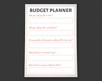 Budget Planner Worksheet Printable - by HowToFIRE
