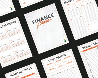 Ultimate Finance Planner Budget Income Bills Expenses Debt Savings Retirement Goal Tracker Bundle - by HowToFIRE