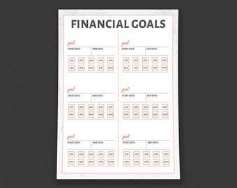 Financial Goals Colorable Tracker Printable - by HowToFIRE
