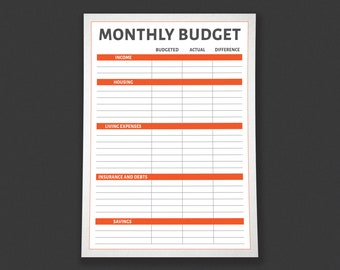 Monthly Budget Category Tracker Printable - by HowToFIRE