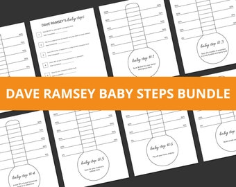 Dave Ramsey Baby Steps Tracker Thermometer Printables | 8 Page Bundle | Digital Download