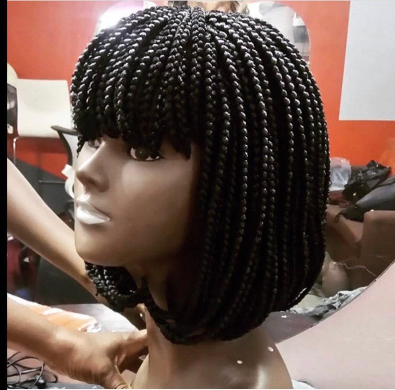 Bob Box Braids With Fringe
