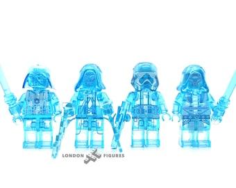 Holographic Vader, Kylo Ren, Palpatine & Stormtrooper Star Wars Custom Minifigure Set