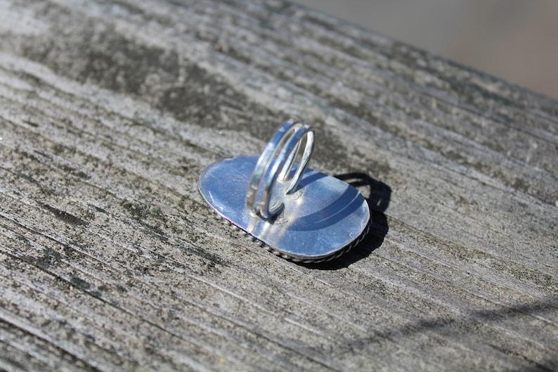 Jasper Maligano Jasper Sterling Silver Handmade Unique Ring Size 5.25