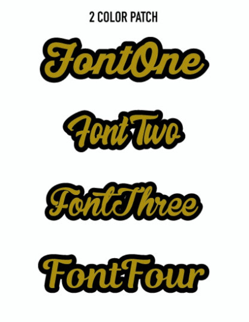 Custom made chenille back name patches Personalized gift ideas