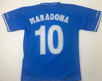 ce81c2c1b 80s 90s N.B. Brand Diego Maradona Soccer Jersey Adult Small