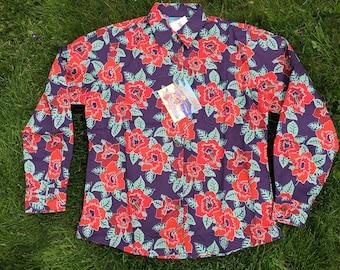e88d717b NEW Reyn Spooner Joe Kealoha Hibiscus Long Sleeve Hawaiian Shirt Adult  Large, Mens Vintage Clothing, Aloha Floral Flowers Button Up Shirt