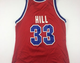 99c3fed645d 90s Champion Grant Hill #33 Detroit Pistons NBA Basketball Jersey Adult  Size 40 Medium, Made In USA, Mens Vintage Clothing, Red Blue White