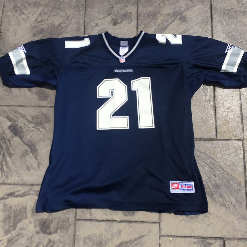 best website 78232 a54c0 Nike Authentic NFL Pro Line Deion Sanders #21 Dallas Cowboys Football  Jersey Adult XL Extra Large, Mens Vintage Clothing, Blue White Silver