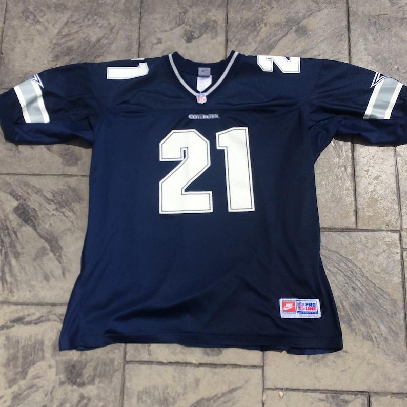 best website df820 4e9ba Nike Authentic NFL Pro Line Deion Sanders #21 Dallas Cowboys Football  Jersey Adult XL Extra Large, Mens Vintage Clothing, Blue White Silver