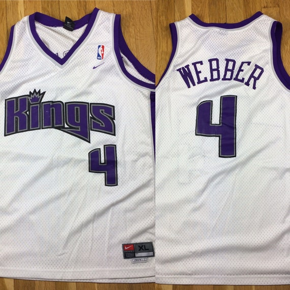 90s Nike Chris Webber Sacramento Kings #4 Stitched Jersey Adult XL Extra  Large +2, Mens Vintage Clothing, NBA Basketball Sports Team, Rare