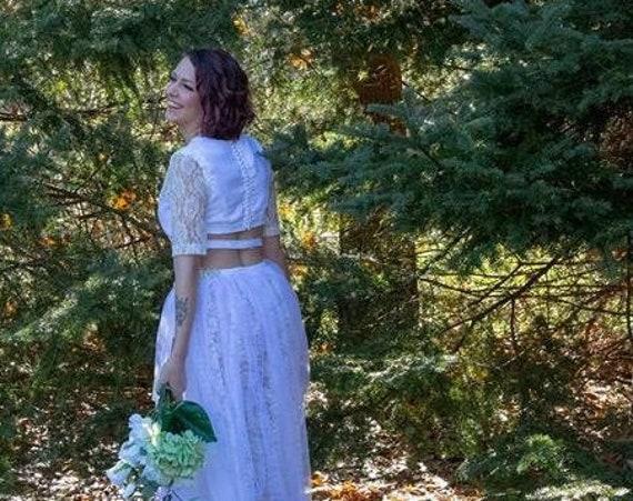 BOHO Two Piece Unique Prom Dress