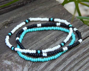 Boho Beach Bracelets Beach Bracelet Stack Turquoise Bracelet Stack Tropical Bracelet Stack Beachy Jewelry