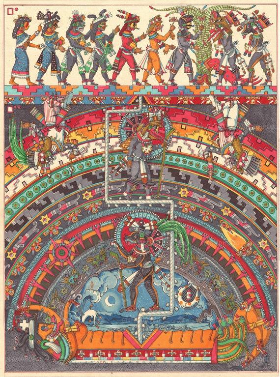 Huitzilopochtli t shirt Aztec God Mexica Spirit Sun   Etsy