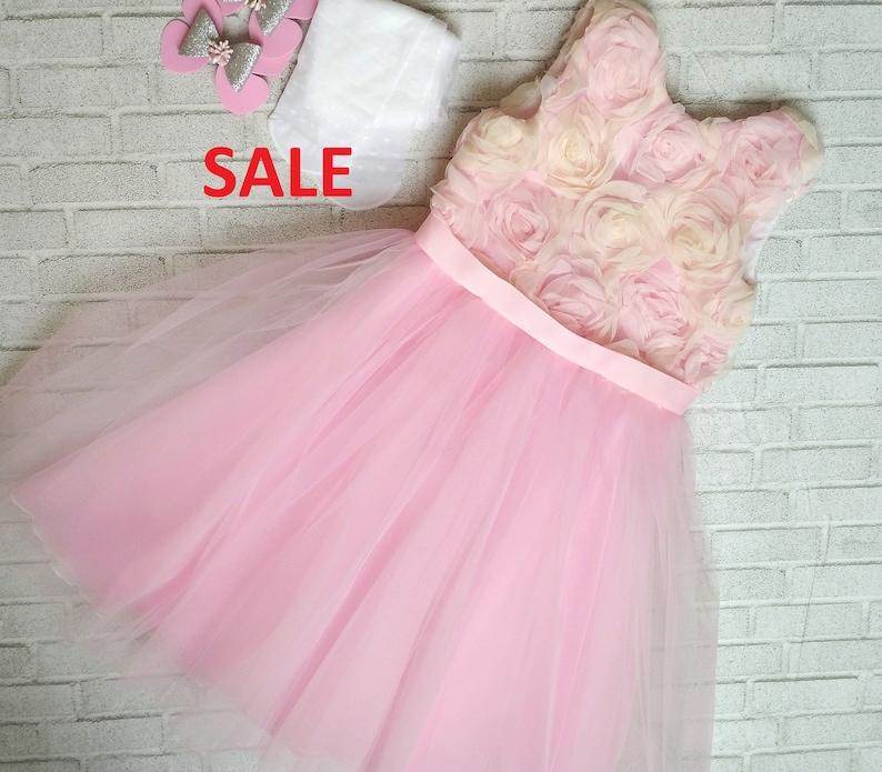 82f63a2b8 Pink girl dress Flower girl dress lace dress wedding baby | Etsy