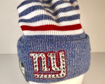bd99c4fd560 NY Giants blinged beanie