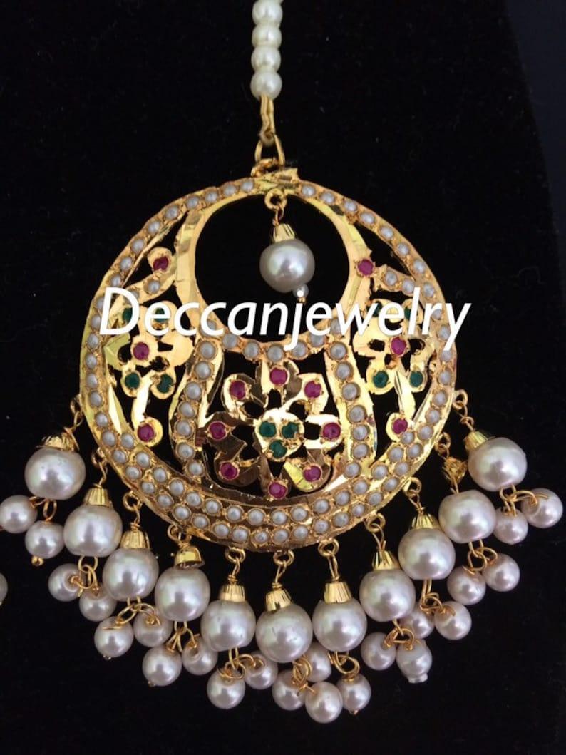 indian jewellery Fazeen punjabi jadau choker set  in ruby and emerald combination