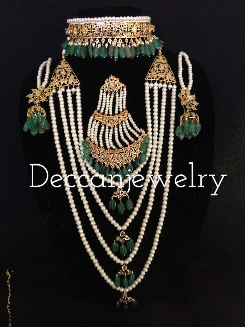 bb733309d Manaal hyderabadi jadau bridal set indian jewellery | Etsy