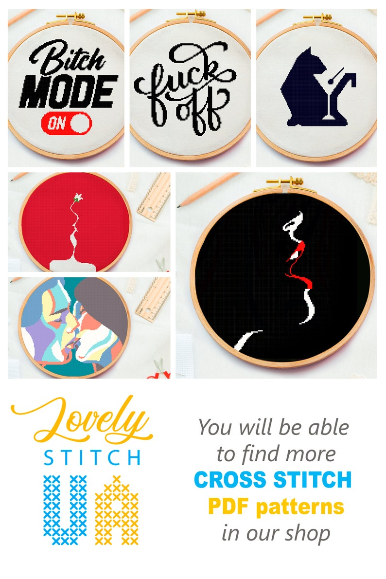 Cross stitch for beginner elementary cross stitch pattern easy and small Modern cross stitch chart simple pattern