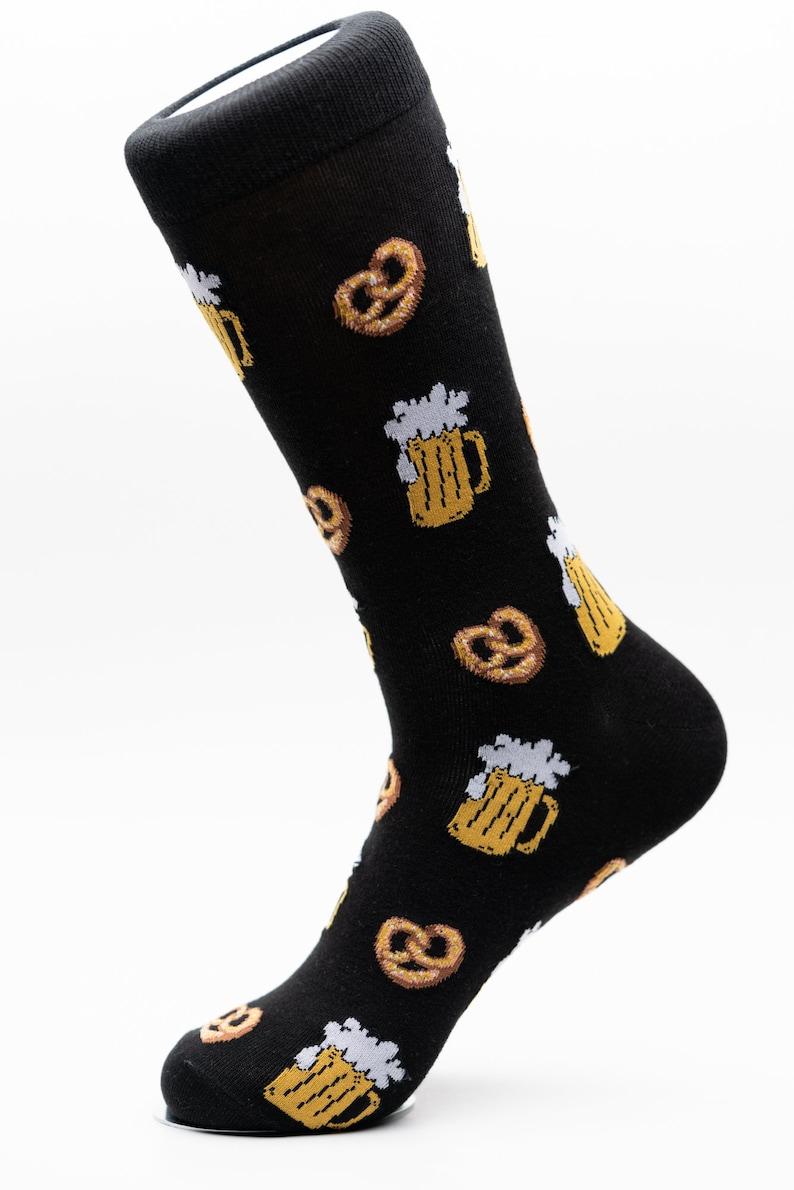 Awesome Socks Beer and Pretzel Socks Crazy Socks Groom Socks Funky Socks Fun Socks Cool Socks