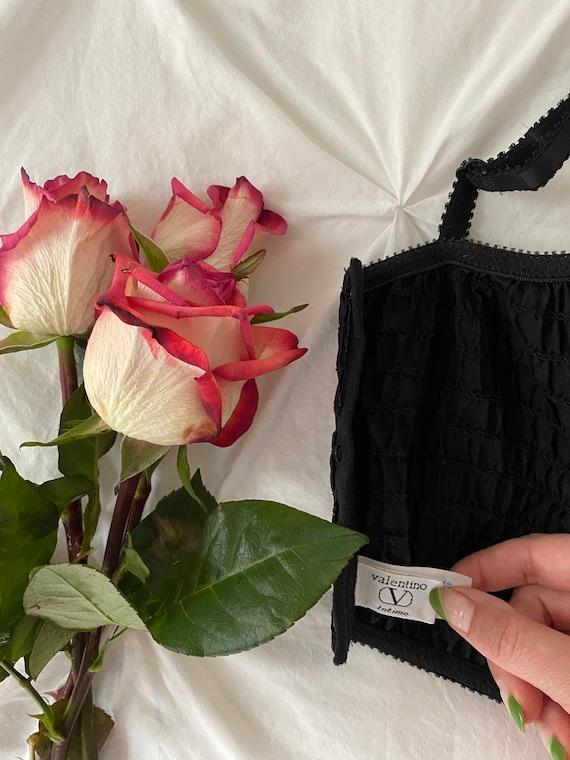 Vintage Valentino Black Satin + Lace Bustier Cors… - image 4