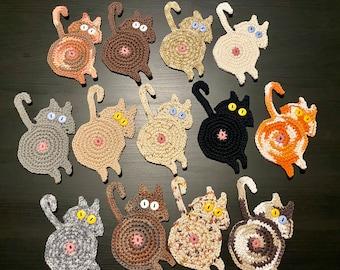 Peeking Cat Butt Coaster