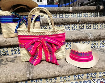 b6ccdde4fc Summer hat-straw Handbag duo Made in Mexico