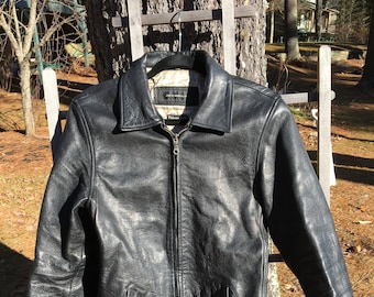 b777043baad Vintage 1990s Jim   MaryLou Thinsulate Lined Heavy Leather Jacket